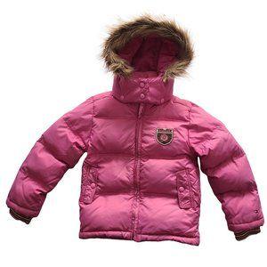 TOMMY HILFIGER Hooded Pink Puffer Jacket 6